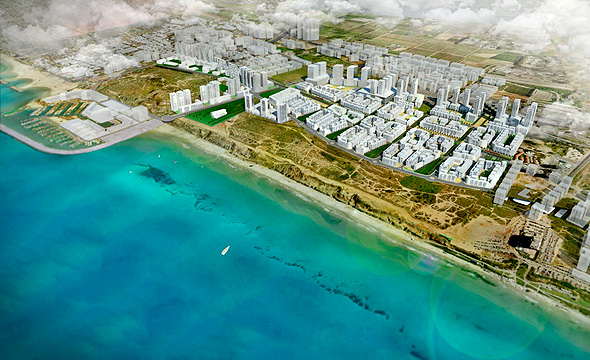 תכנית הדמיה של חוף התכלת