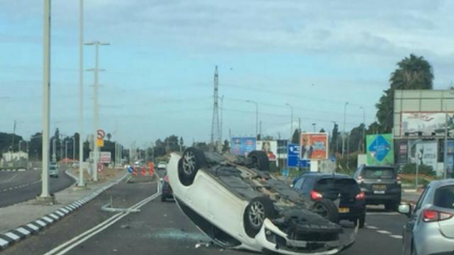 תאונת דרכים ברחוב הבריגדה היהודית