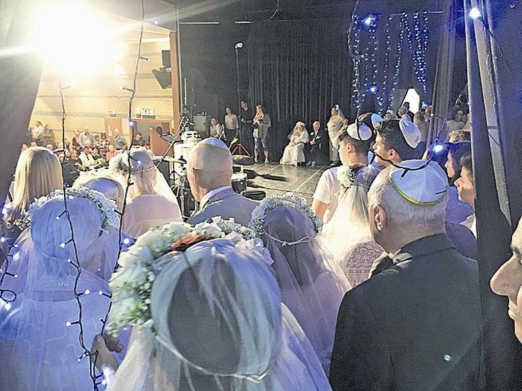 החתונה השנייה של ניצולי השואה. צילום: ליהיא לפיד