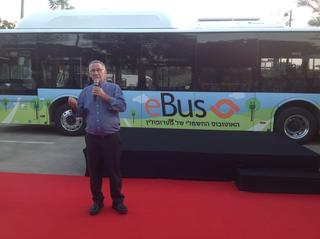 אוטובוס חשמלי בשרון | צילום: רועי רובינשטיין