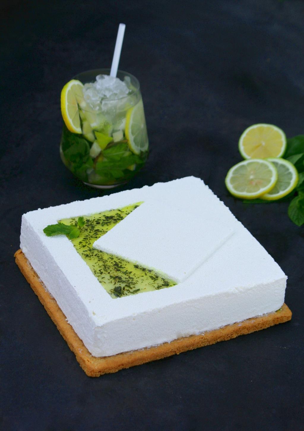 עוגת מוס מסקרפונה מוחיטו של ג'ייקובס. צילום: בר אופק