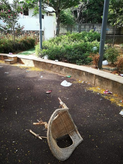 הגינה ברחוב הבנים. מראות קשים | צילום: פרטי