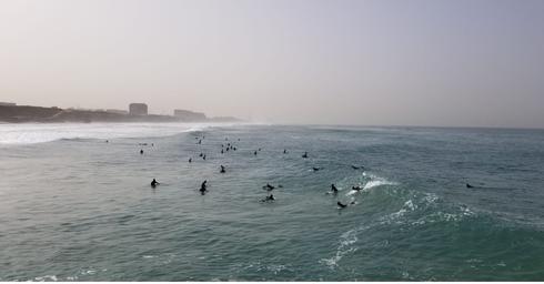 חוף הים בבוקר התאונה   צילום: רז בכר
