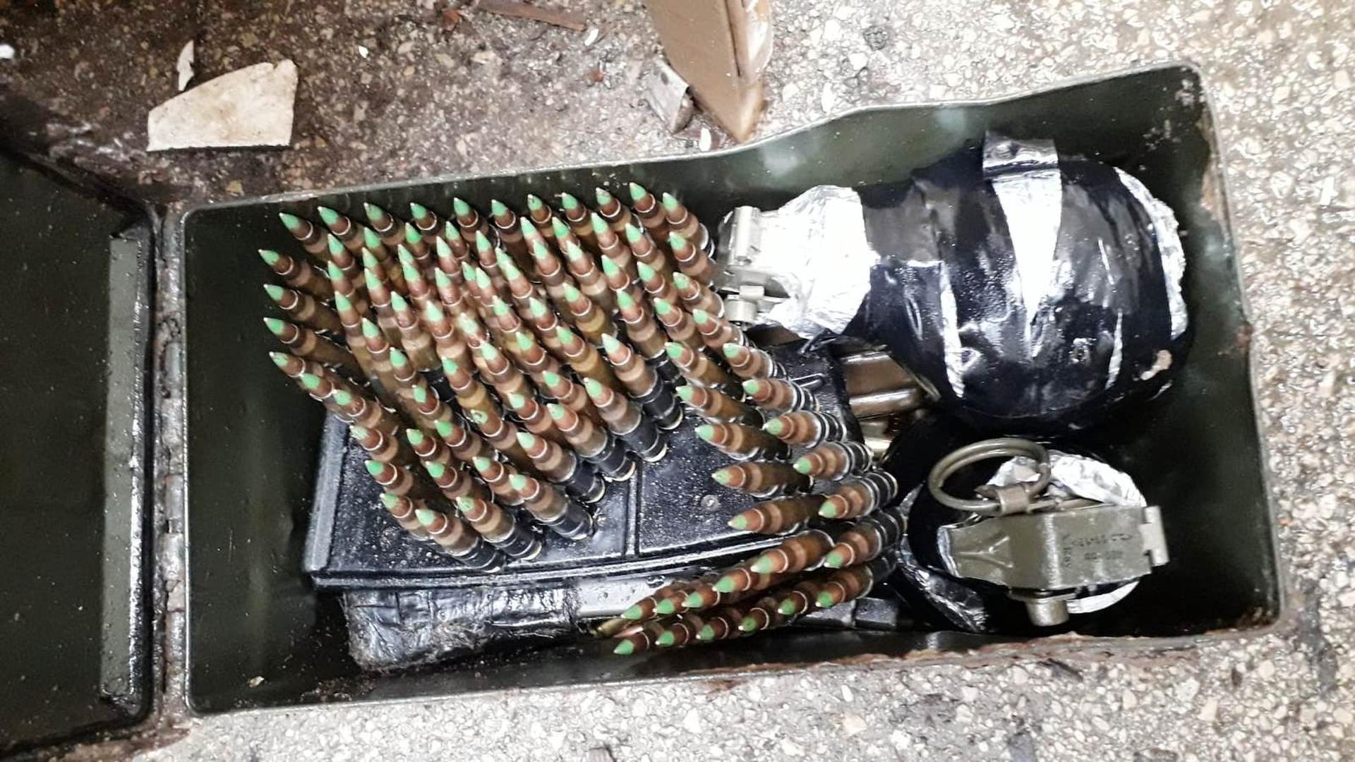 נשקים שנתפסו. צילום: דוברות משטרת ישראל