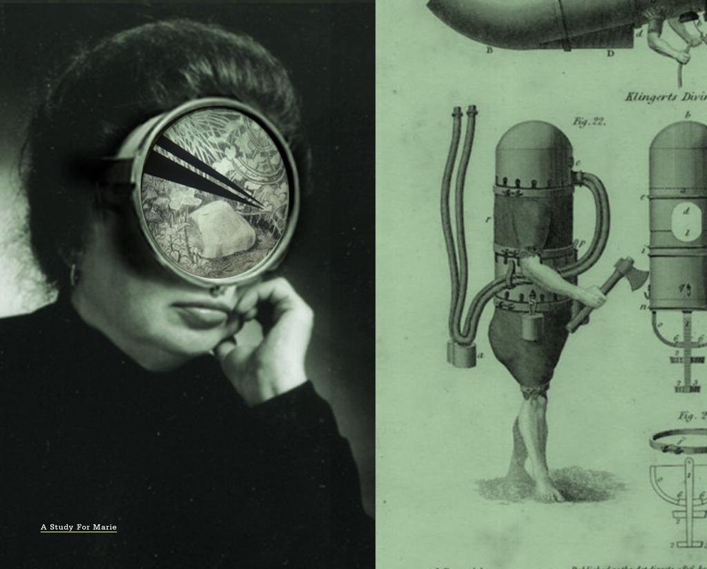 ניבי אלרואי, מארי, 2019 , קולאז' דיגיטלי, עיפרון על נייר