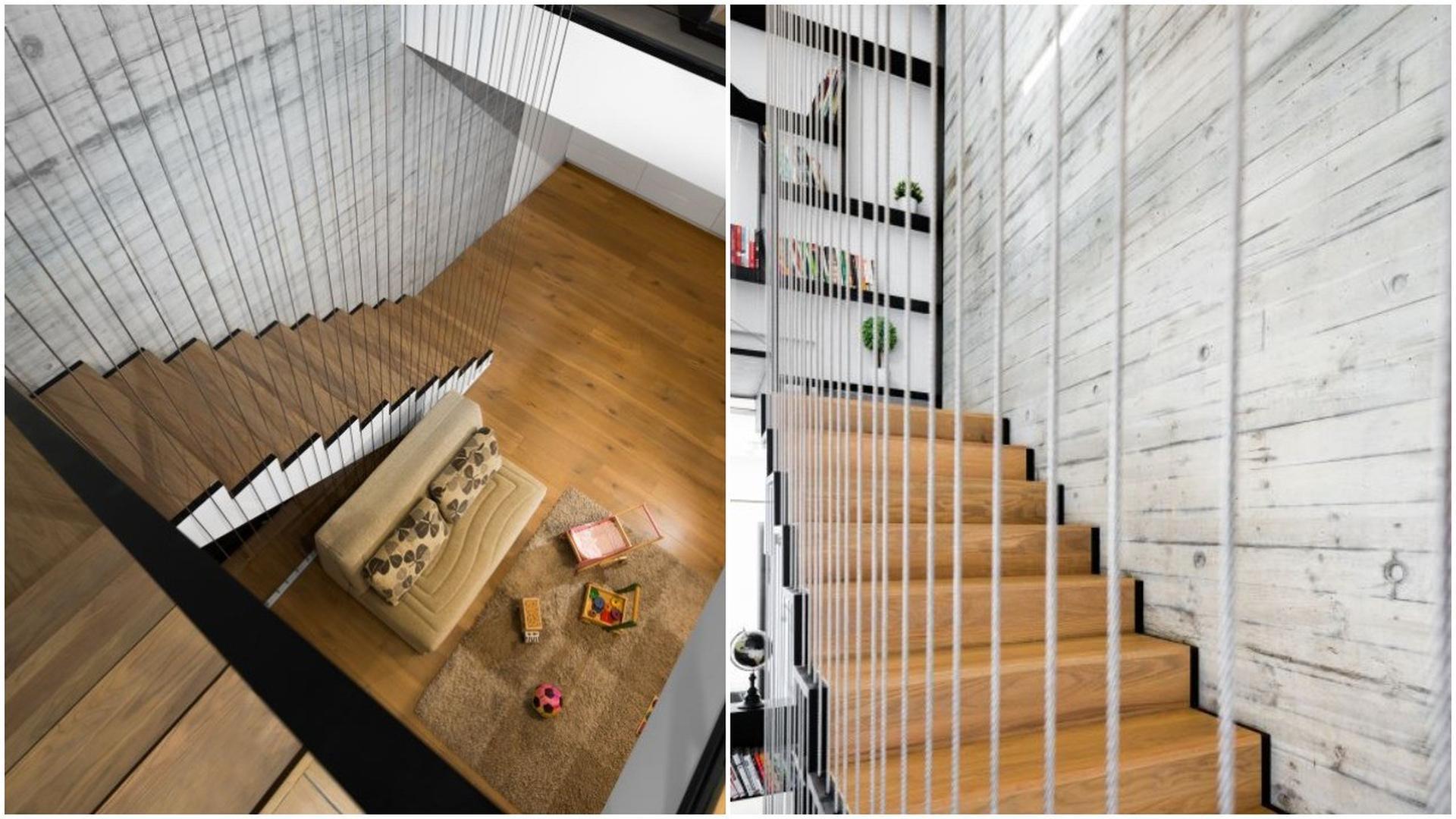 המדרגות שמלוות את הבית. אדריכל: רון שפיגל. צילום: רגב כלף