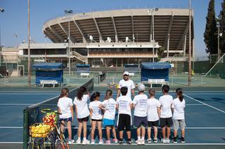 משחקים טניס ויורדים במשקל. צילום: דוברות מכבי
